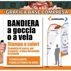 BANDIERA A LANCIA COMPLETA DI STRUTTURA E SACCA PER IL TRASPORTO