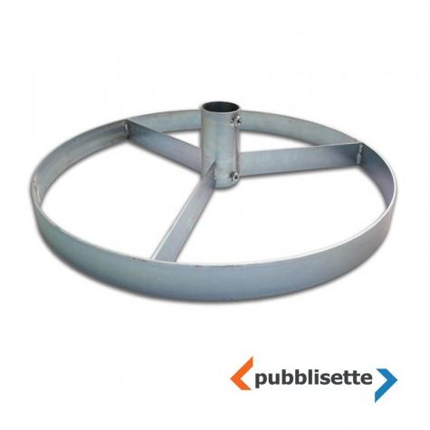 Piantana mobile in ferro per palo diametro 60 mm