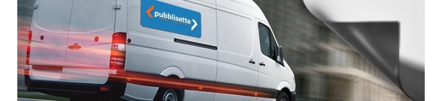 Adesivi magnetici personalizzati per auto e furgoni